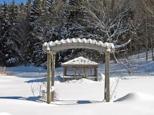 A Vermont Garden in Winter