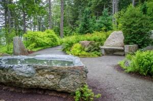 The peaceful meditative garden